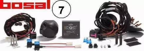 Bosal 012068 - Комплект электрики, прицепное оборудование car-mod.com