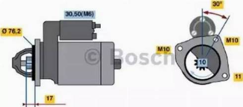 BOSCH 0 001 107 016 - Стартер car-mod.com