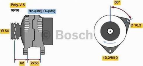 BOSCH 0124225041 - Генератор autodnr.net