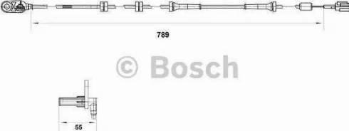 BOSCH 0 265 007 465 - Датчик ABS, частота вращения колеса autodnr.net
