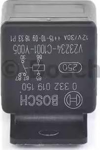 BOSCH 0 332 019 150 - Реле, вентилятор радиатора car-mod.com