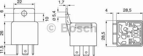 BOSCH 0 332 019 103 - Реле car-mod.com