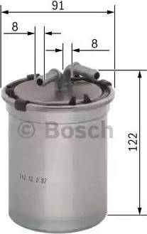 BOSCH 0 450 906 464 - Паливний фільтр autocars.com.ua
