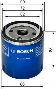 BOSCH 0 451 103 189 - Масляний фільтр autocars.com.ua