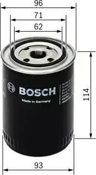 BOSCH 0 451 103 217 - Масляний фільтр autocars.com.ua
