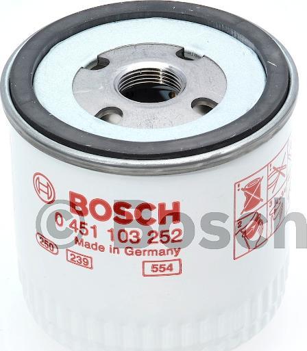 BOSCH 0 451 103 252 - Масляний фільтр autocars.com.ua