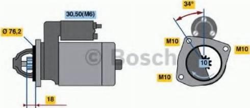 BOSCH 0986020900 - Стартер car-mod.com