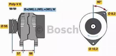 BOSCH 0 986 040 081 - Генератор car-mod.com