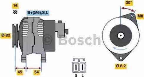 BOSCH 0 986 042 281 - Генератор car-mod.com
