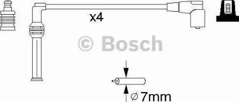 BOSCH 0 986 356 778 - Комплект проводов зажигания avtokuzovplus.com.ua