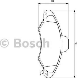 BOSCH 0 986 424 644 - Комплект тормозных колодок, дисковый тормоз autodnr.net