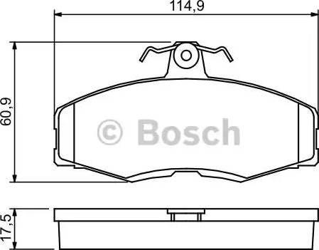 BOSCH 0 986 468 613 - Комплект тормозных колодок, дисковый тормоз autodnr.net