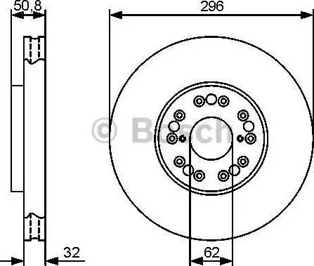 BOSCH 0 986 479 429 - Тормозной диск autodnr.net