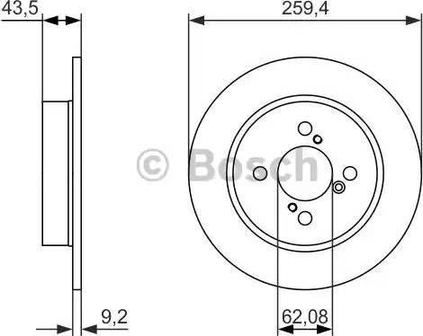 BOSCH 0 986 479 792 - Тормозной диск autodnr.net
