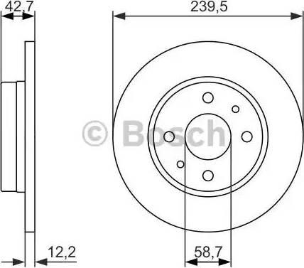BOSCH 0 986 479 905 - Тормозной диск autodnr.net