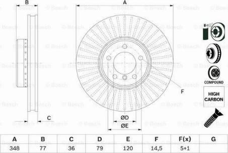 BOSCH 0 986 479 E20 - Тормозной диск autodnr.net