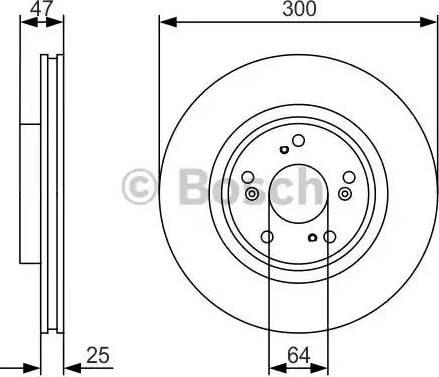 BOSCH 0 986 479 R24 - Тормозной диск autodnr.net
