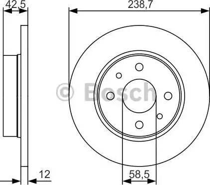 BOSCH 0 986 479 R61 - Тормозной диск autodnr.net
