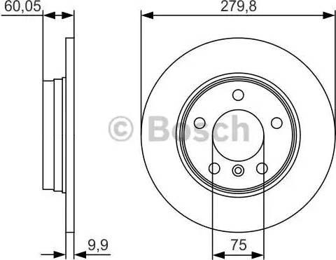 BOSCH 0 986 479 S34 - Тормозной диск autodnr.net