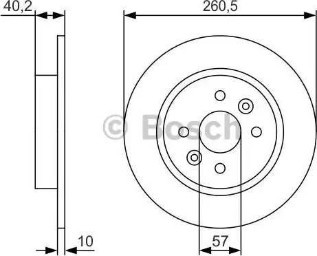 BOSCH 0 986 479 S85 - Тормозной диск autodnr.net