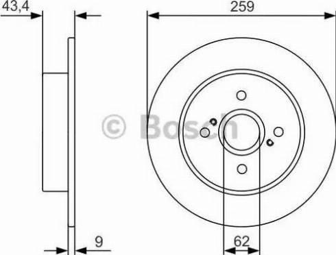 BOSCH 0 986 479 V07 - Тормозной диск autodnr.net