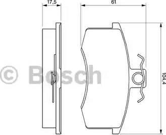 BOSCH 0 986 491 700 - Комплект тормозных колодок, дисковый тормоз autodnr.net