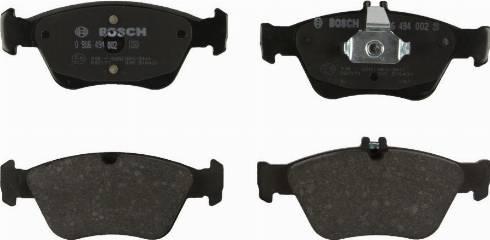 BOSCH 0 986 494 002 - Комплект тормозных колодок, дисковый тормоз autodnr.net
