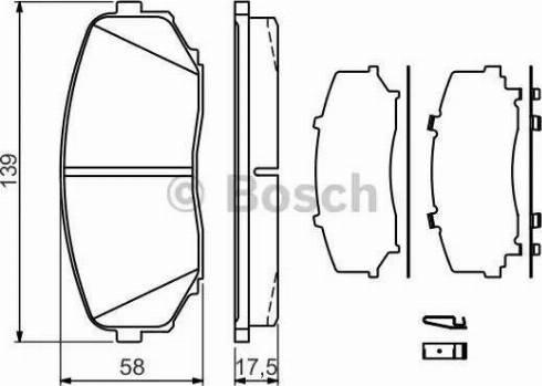 BOSCH 0 986 494 375 - Комплект тормозных колодок, дисковый тормоз autodnr.net