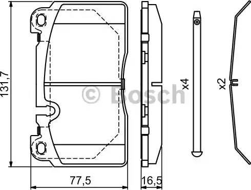 BOSCH 0 986 494 694 - Комплект тормозных колодок, дисковый тормоз autodnr.net