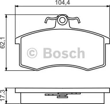 BOSCH 0 986 495 214 - Комплект тормозных колодок, дисковый тормоз autodnr.net