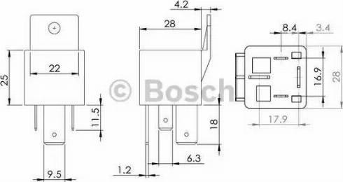 BOSCH 0986AH0080 - Блок управления, реле, система накаливания avtokuzovplus.com.ua