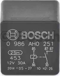 BOSCH 0986AH0251 - Реле, вентилятор радиатора avtokuzovplus.com.ua