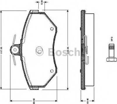 BOSCH 0 986 TB2 311 - Тормозные колодки, дисковые car-mod.com