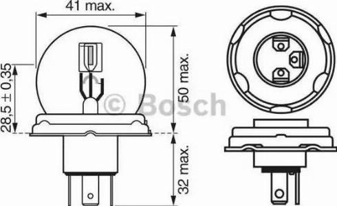 BOSCH 1987302023 - Лампа накаливания, противотуманная фара car-mod.com