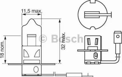 BOSCH 1987302031 - Лампа накаливания, противотуманная фара car-mod.com
