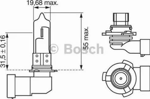 BOSCH 1987302152 - Лампа накаливания, противотуманная фара autodnr.net