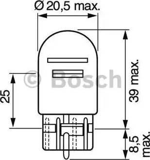 BOSCH 1987302252 - Лампа накаливания, стояночные огни / габаритные фонари autodnr.net