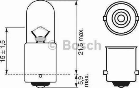 BOSCH 1987302207 - Лампа накаливания, стояночные огни / габаритные фонари autodnr.net