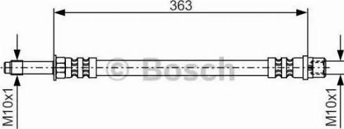BOSCH 1 987 476 295 - Тормозной шланг autodnr.net