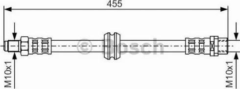 BOSCH 1 987 476 444 - Тормозной шланг car-mod.com