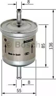BOSCH F 026 402 001 - Паливний фільтр autocars.com.ua