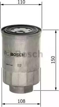 BOSCH F 026 402 039 - Паливний фільтр autocars.com.ua