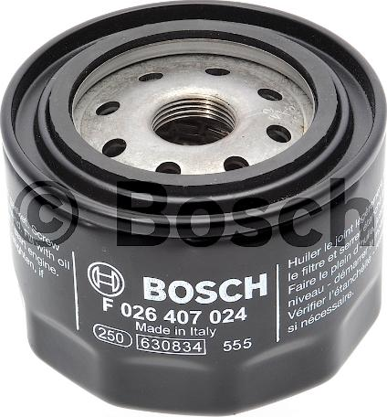 BOSCH F 026 407 024 - Масляний фільтр autocars.com.ua