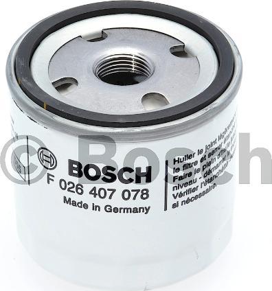 BOSCH F 026 407 078 - Масляний фільтр autocars.com.ua