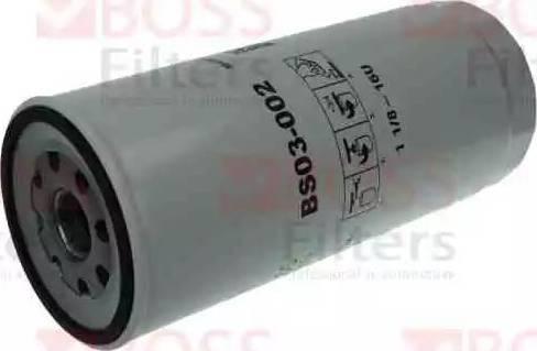 BOSS FILTERS BS03-002 - Масляний фільтр autocars.com.ua