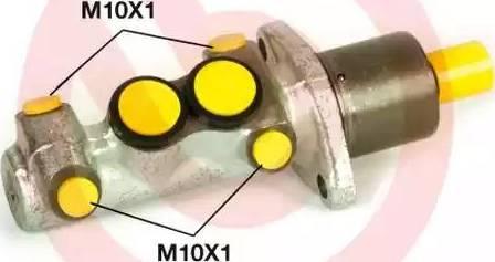 Brembo M 61 110 - Главный тормозной цилиндр autodnr.net