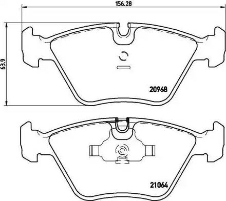 Brembo P 06 012 - Комплект тормозных колодок, дисковый тормоз autodnr.net