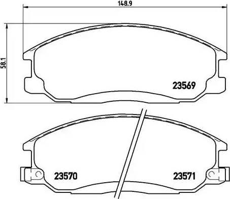 Brembo P 30 013 - Комплект тормозных колодок, дисковый тормоз autodnr.net