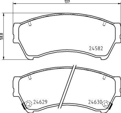 Brembo P 49 060 - Комплект тормозных колодок, дисковый тормоз autodnr.net