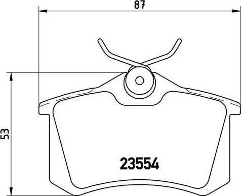 Brembo P 85 017 - Комплект тормозных колодок, дисковый тормоз autodnr.net